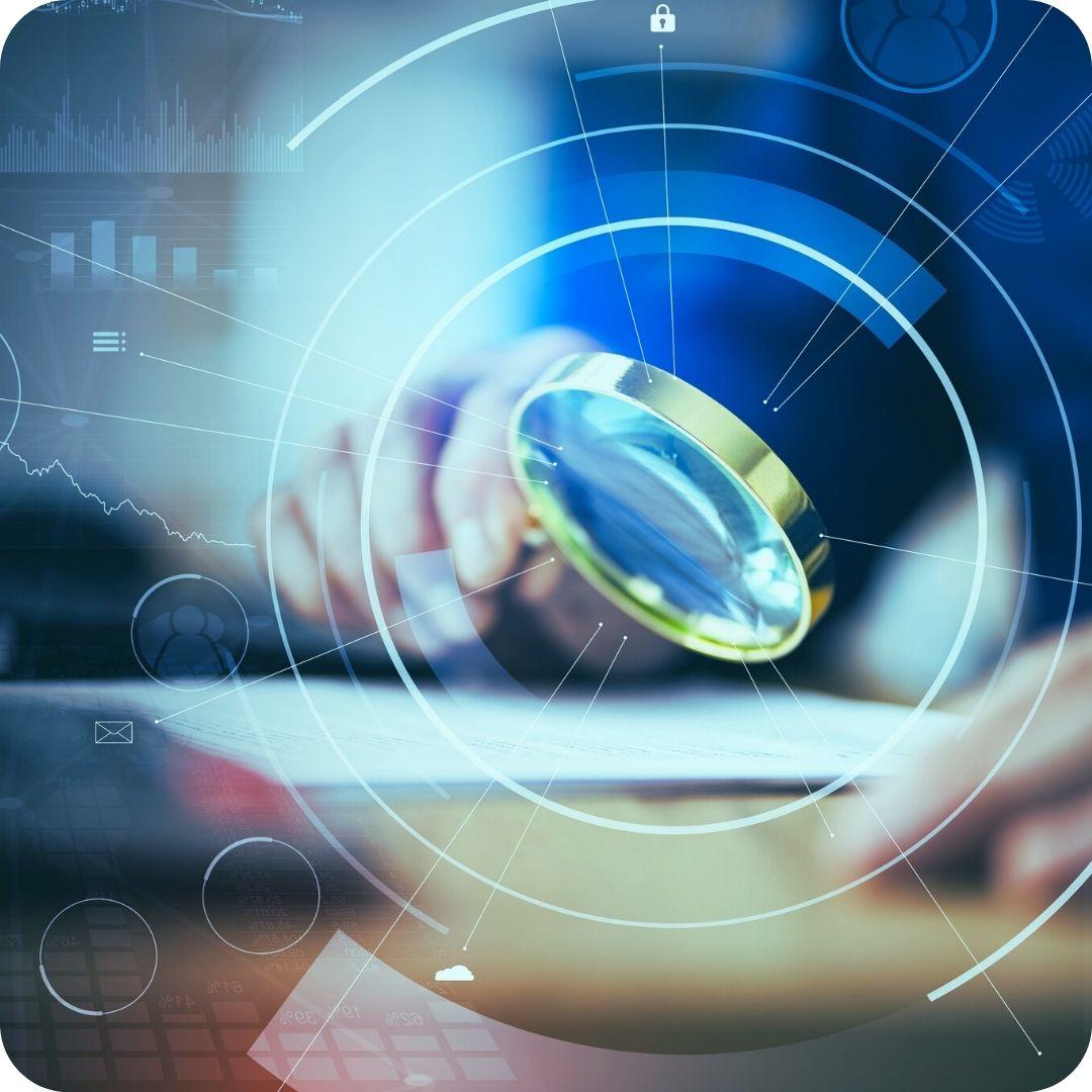 IT Service Management Datenschutz Datensicherheit Lupe
